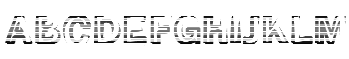 Smoke-Rasterized-Medium Font UPPERCASE