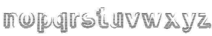 Smoke-Rasterized-Medium Font LOWERCASE
