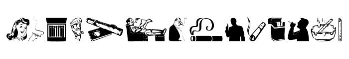 Smoking Font UPPERCASE