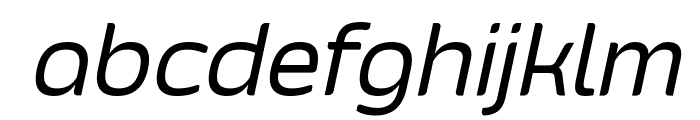 Smoolthan Regular-Italic Font LOWERCASE