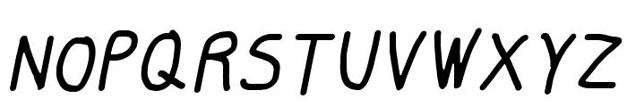 Smoothie Light Italic Font UPPERCASE