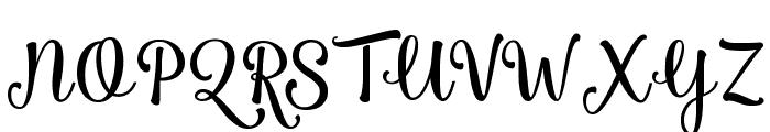 Smoothie Shoppe Font UPPERCASE