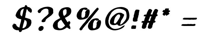 Smudge Stick Oblique Font OTHER CHARS