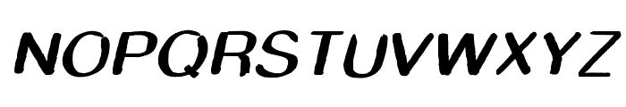 Smudge Stick Oblique Font UPPERCASE