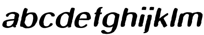 Smudge Stick Oblique Font LOWERCASE