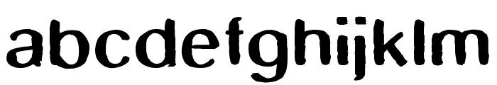SmudgeStick Font LOWERCASE