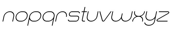 Smush Light Italic Font LOWERCASE