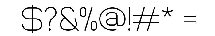 Smush Light Font OTHER CHARS