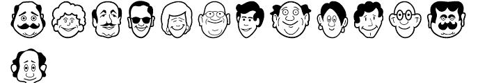 Smiling Faces Regular Font LOWERCASE