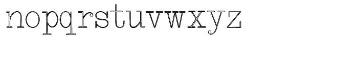 Smith Premier Typewriter Outline Regular Font LOWERCASE