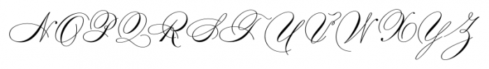 Smith Spencerian Sixteen Font UPPERCASE