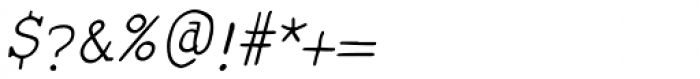 Smart Chameleon Italic Font OTHER CHARS