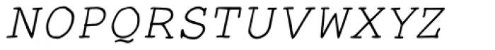 Smart Chameleon Italic Font UPPERCASE