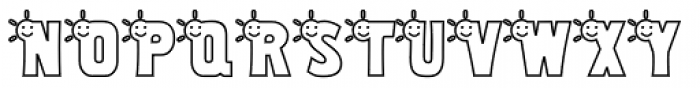 Smiley Sunshine Font UPPERCASE