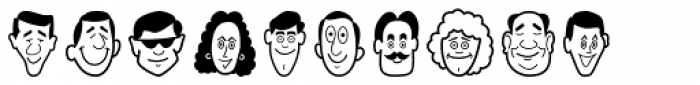 Smiling Faces Font OTHER CHARS