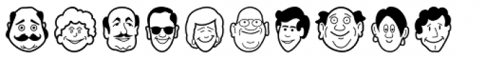 Smiling Faces Font UPPERCASE