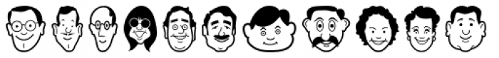 Smiling Faces Font LOWERCASE