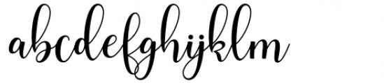 Smith Catrine Regular Font LOWERCASE