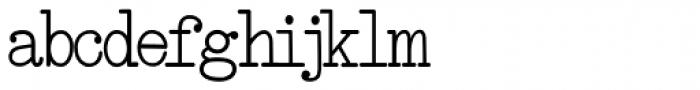 Smith-Premier Typewriter Bold Font LOWERCASE