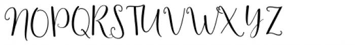 Smithens Villa script Regular Font UPPERCASE