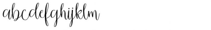 Smithens Villa script Regular Font LOWERCASE