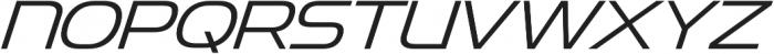 Snasm Light Italic otf (300) Font UPPERCASE