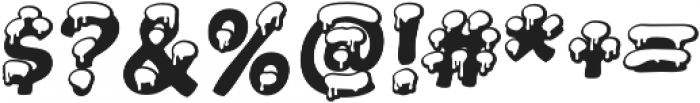 Snowa Snow otf (400) Font OTHER CHARS