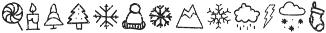 Snowbrush Symbols otf (400) Font UPPERCASE