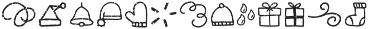 Snowbrush Symbols otf (400) Font LOWERCASE