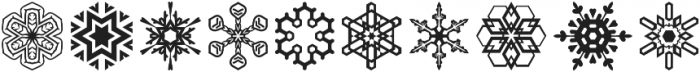 Snowfliki Symbols otf (400) Font OTHER CHARS