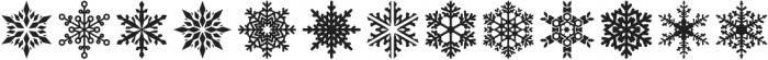 Snowfliki Symbols otf (400) Font UPPERCASE