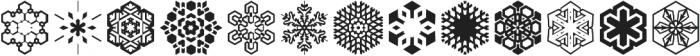 Snowfliki Symbols otf (400) Font LOWERCASE
