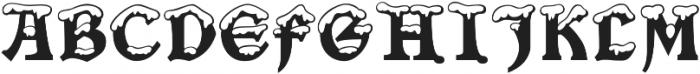 Snowgoose Regular otf (400) Font UPPERCASE