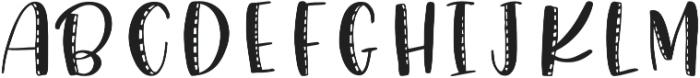 Snuggle Stitched otf (400) Font UPPERCASE