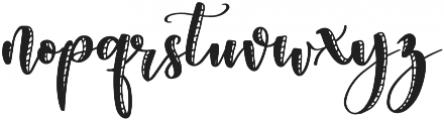 Snuggle Stitched otf (400) Font LOWERCASE
