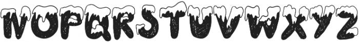 snowy otf (700) Font UPPERCASE
