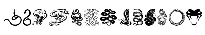 Snake Mix Font UPPERCASE