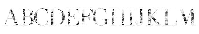 Snake Font UPPERCASE