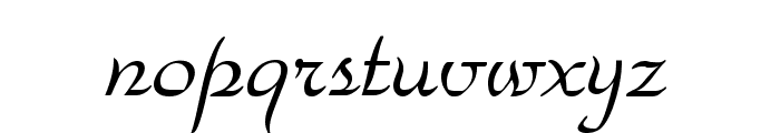 Snooty Font LOWERCASE