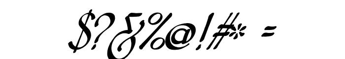 Snotmaster V Italic Font OTHER CHARS