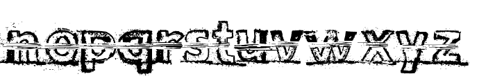 Snow Traces Font LOWERCASE