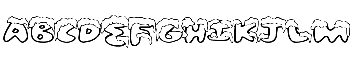 SnowFrosting Font UPPERCASE