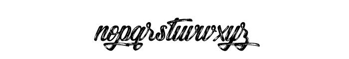 Snowboarding Font LOWERCASE