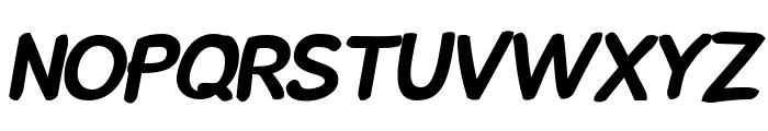 Snowfall Black Oblique Font UPPERCASE
