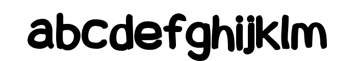 Snowfall Black Font LOWERCASE