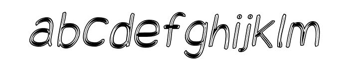Snowfall Eco Oblique Font LOWERCASE