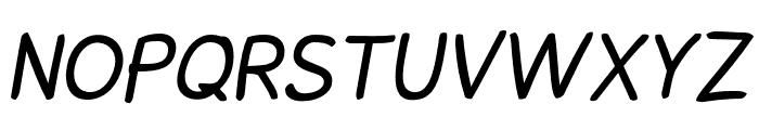 Snowfall Oblique Font UPPERCASE