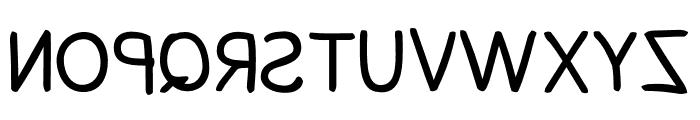 Snowfall Reverse Font UPPERCASE