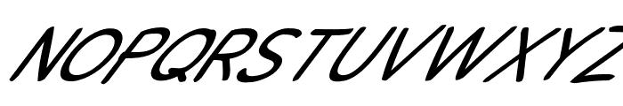 Snowfall Super Oblique Font UPPERCASE