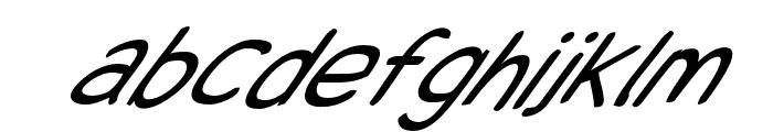 Snowfall Super Oblique Font LOWERCASE